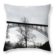 The New River Gorge Bridge Throw Pillow