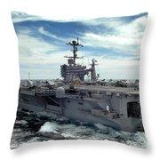 The Nimitz-class Aircraft Carrier Uss Throw Pillow