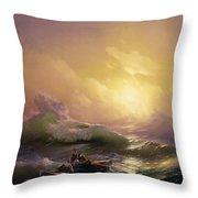 The Ninth Wave Throw Pillow