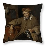 The Old Drinker Throw Pillow