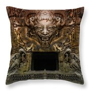 The Old Entrance To The Mountain  Throw Pillow