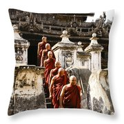 The Old Monastery Throw Pillow