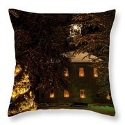 The Old Round Church Throw Pillow