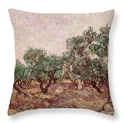 The Olive Pickers Throw Pillow