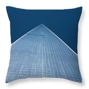 The One World Trade Centre Or Freedom Tower New York City Usa Throw Pillow