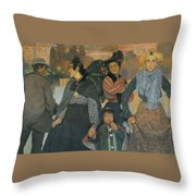 The Origins Of The Modern In Basque Throw Pillow