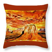 The Painted Desert Throw Pillow