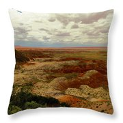 Viewpoint In The Painted Desert Throw Pillow