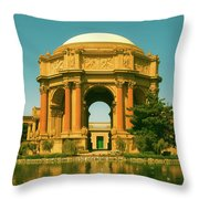 The Palace Of Fine Arts Throw Pillow