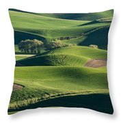 The Palouse #2 Throw Pillow