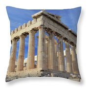 The Parthenon Acropolis Athens Greece Throw Pillow