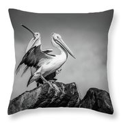 The Pelicans Throw Pillow