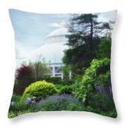 The Perennial Garden Throw Pillow