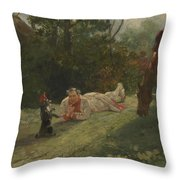 The Performing Dog Throw Pillow