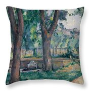 The Pool At The Jas De Bouffan Throw Pillow