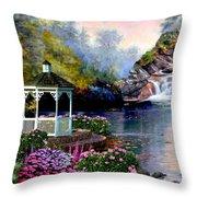The Prayer Garden 3 Throw Pillow