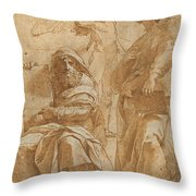 The Prophets Hosea And Jonah Throw Pillow
