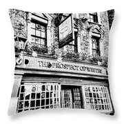 The Prospect Of Whitby Pub London Art Throw Pillow