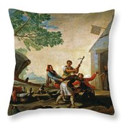 The Quarrel In The New Tavern Throw Pillow