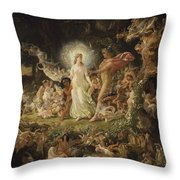 The Quarrel Of Oberon And Titania Throw Pillow