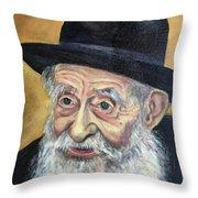The Rabbi Throw Pillow