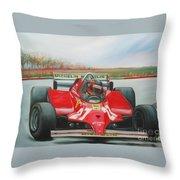 The Racing Car Throw Pillow