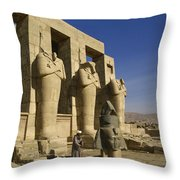 The Ramesseum Throw Pillow
