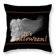 The Reaper Rides Again Throw Pillow
