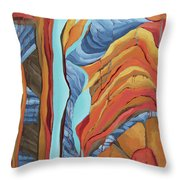 The Rocks Cried Out, Zion Throw Pillow by Erin Fickert-Rowland