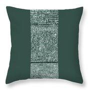 The Rosetta Stone Throw Pillow