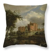 The Ruins Of Brederode Castle Throw Pillow