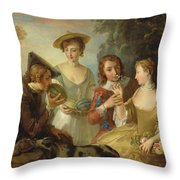 The Sense Of Smell Throw Pillow