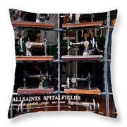 The Sewing Machine Throw Pillow