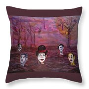 The Silence Of The Mimefield Throw Pillow