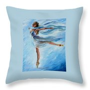 The Sky Dance Throw Pillow