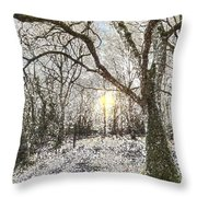 The Snow Forest Art Throw Pillow