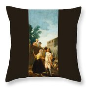 The Soldier And The Lady Throw Pillow