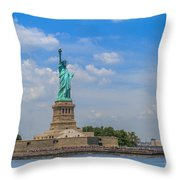The Statue Of Liberty In New York City Throw Pillow