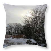 The Storm Is Gone Throw Pillow