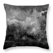 The Storm Throw Pillow by Wolfgang Schweizer