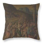 The Story Of Moses The Dance Of Miriam Throw Pillow