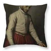 The Tailor Il Tagliapanni Throw Pillow