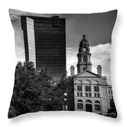 The Tarrant County Courthouse Throw Pillow