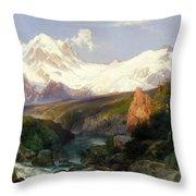 The Teton Range Throw Pillow
