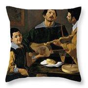 The Three Musicians Throw Pillow