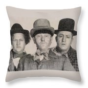 The Three Stooges Hollywood Legends Throw Pillow