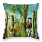 The Thrush Throw Pillow