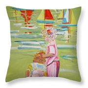 The Toy Regatta Throw Pillow