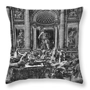 The Trevi Fountain  Throw Pillow