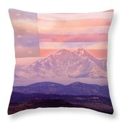 The Twin Peaks - 9-11 Tribute Throw Pillow